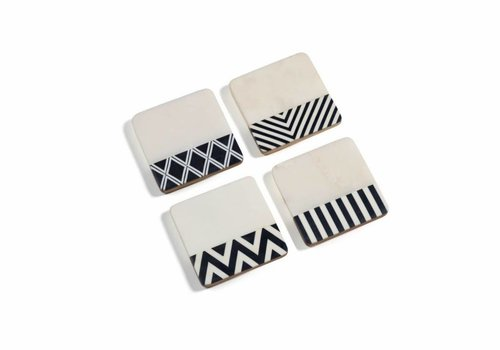 Marine Marble Assorted Coaster Set