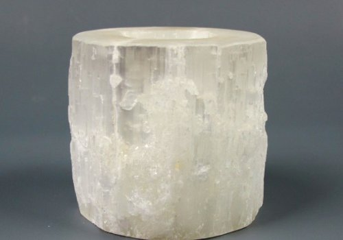 Selenite Cylinder Votive