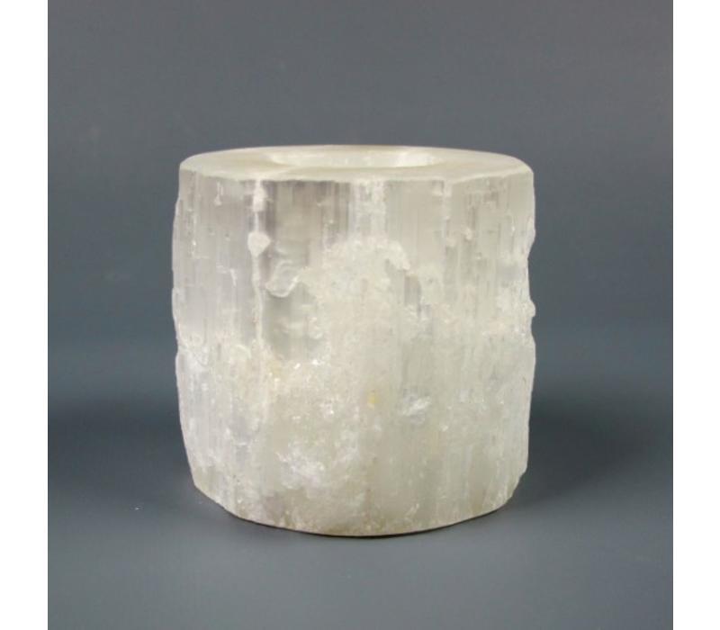 Selenite Cylinder Votive