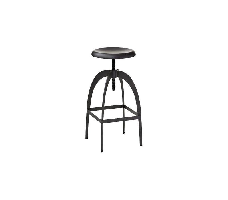 Soho Dark Grey Steel Barstool