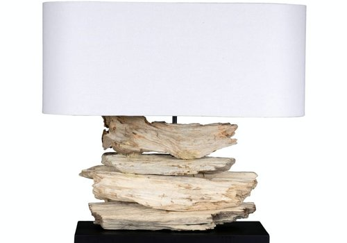 "Jeffan International Alder 23"" Lamp with Oval Shade"