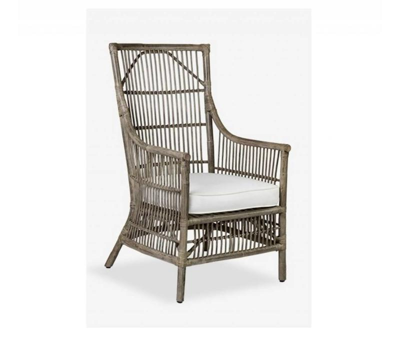 Winston Rattan Chair - Gray