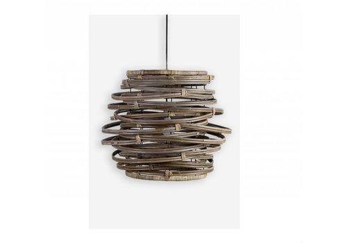 Jeffan International Oceola Hanging Lamp Grey  - Large