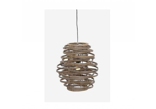 Jeffan International Oceola Hanging Lamp Grey  - Medium