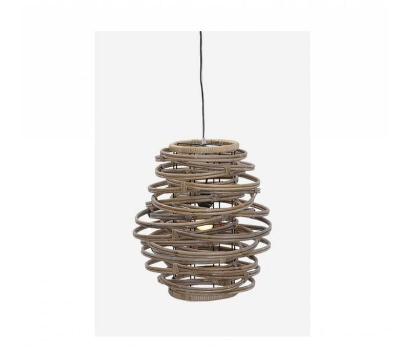 Oceola Hanging Lamp Grey  - Medium