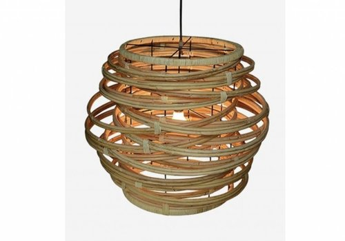 Jeffan International Oceola Hanging Lamp Natural - Large