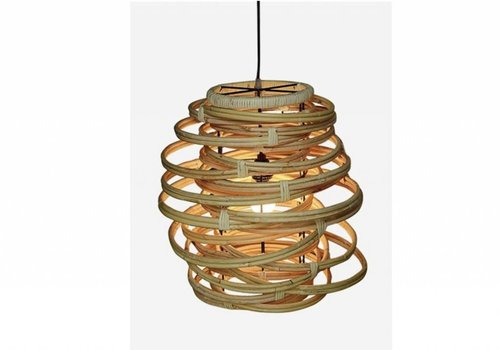 Jeffan International Oceola Hanging Lamp Natural - Medium