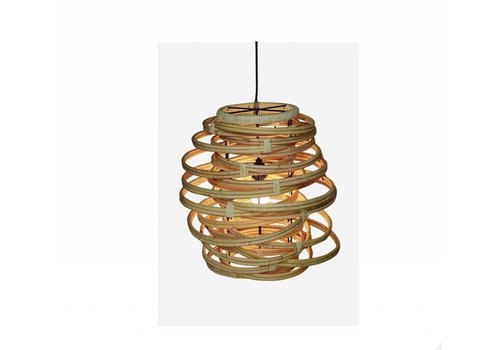 Jeffan International Oceola Hanging Lamp Natural - Medium
