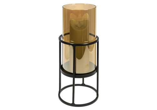 Metal Candle Holder w/ Glass Shade
