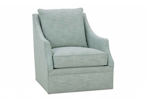 Robin Bruce Kara Beige Swivel Chair Floor Model