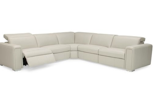 Titan Leather Reclining Sectional Floor Model