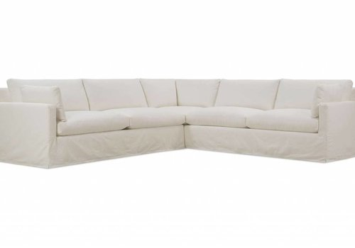 Robin Bruce Sylvie Slipcovered Two Piece Sectional