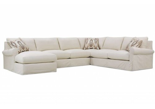 Aberdeen Slipcovered Large Chaise Sectional