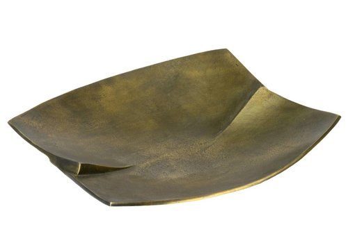 Jeffan International Antique brass Curved metal tray