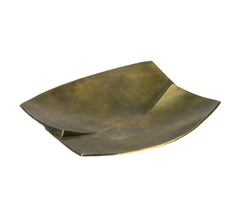 Antique brass Curved metal tray