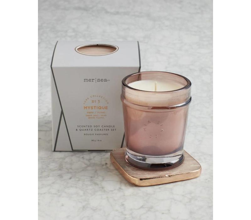 Luxe Quartz Boxed Candle-Mystique