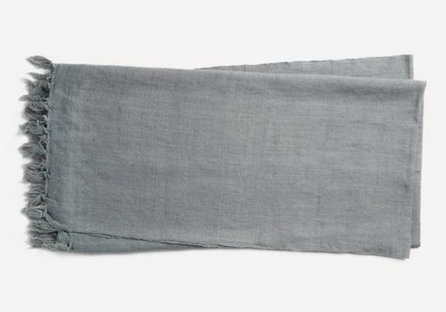 Ellen DeGeneres Brody Slate Linen & Cotton Throw