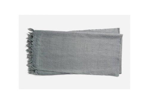 Ellen DeGeneres Brody Slate Linen & Cotton Throw