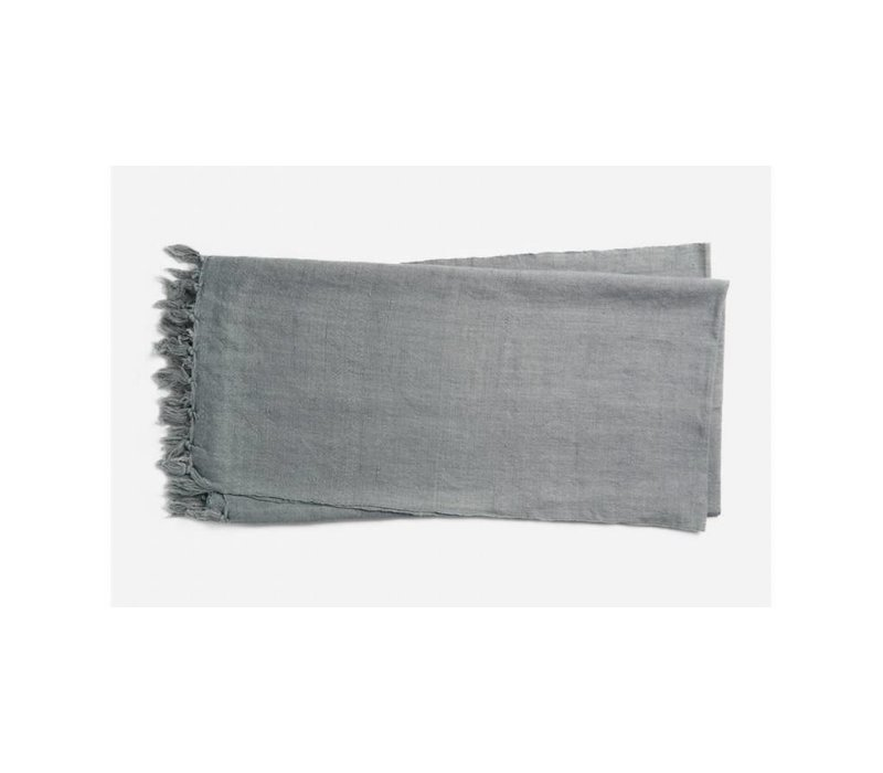 Brody Slate Linen & Cotton Throw