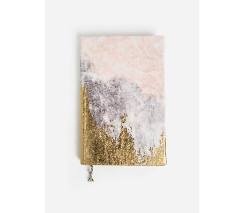 Gilded Shoreline Medium Slim Velvet Journal