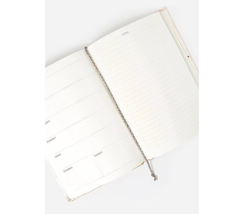 Blush Fade - Medium Slim Velvet Agenda