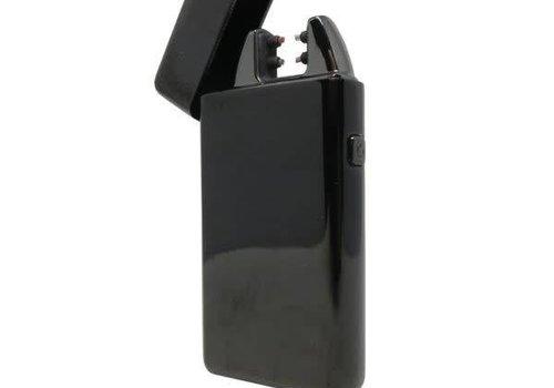 USB Standard Double Arc Lighter - Black Metallic