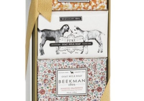 BEEKMAN 3.5 oz Bar Soap Sampler Gift Set - Honey