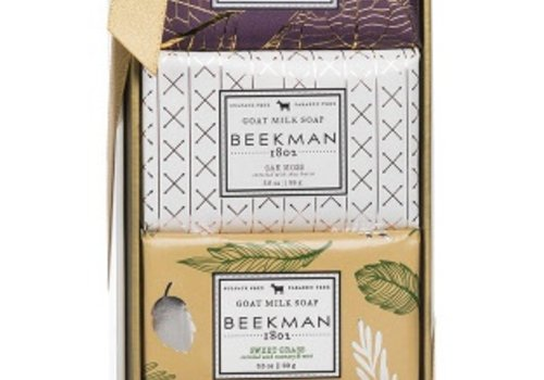 BEEKMAN 3.5 oz Bar Soap Sampler Gift Set - Ylang Ylang