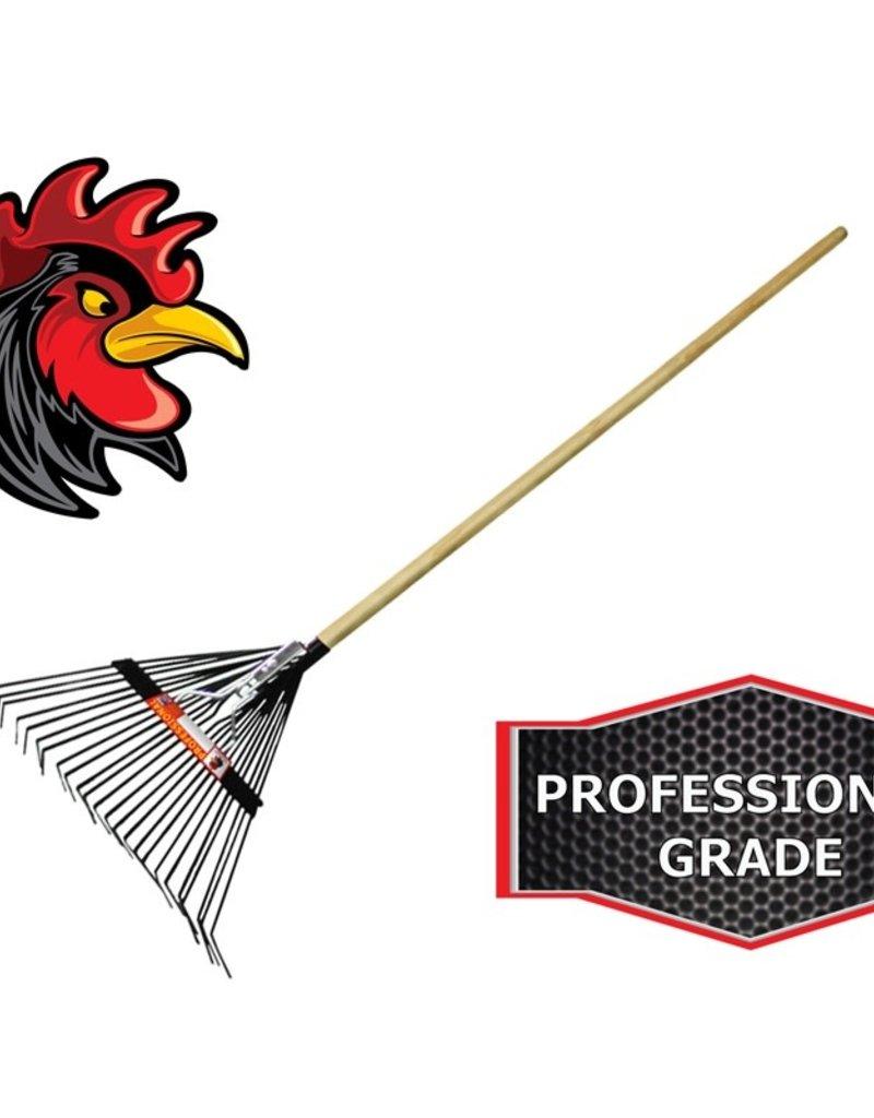 Red Rooster Contractor Grade Steel Spring Rake