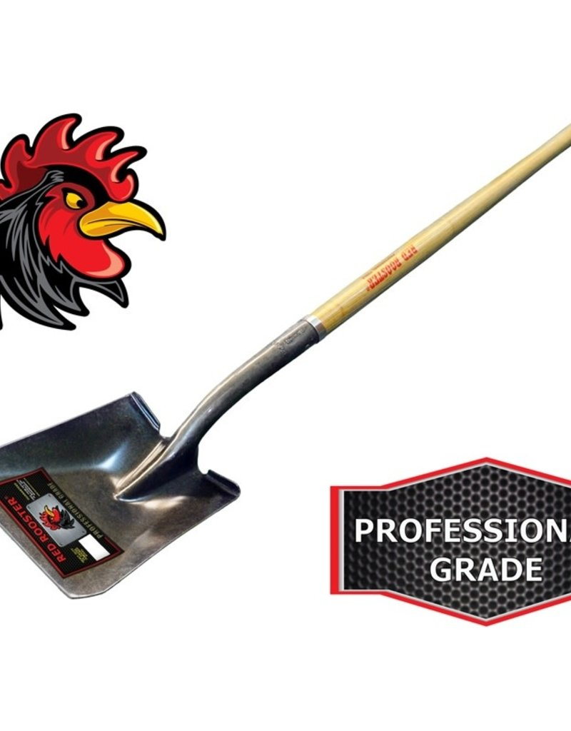 Red Rooster Red Rooster Bad Boy Contractor Grade Square Point Stamped Shovel