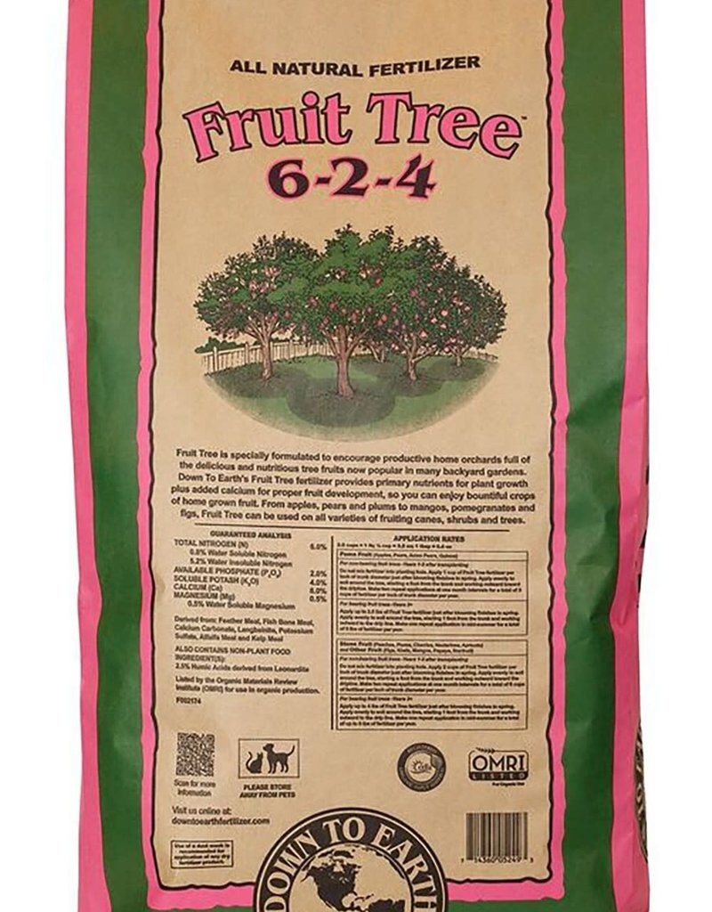 Down To Earth Down to Earth 6-2-4 Fruit Tree Fertilizer 50 lb bag
