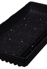 "Super Sprouter Super Sprouter Triple Thick Tray Black 10"" x 20"" w/ Holes"