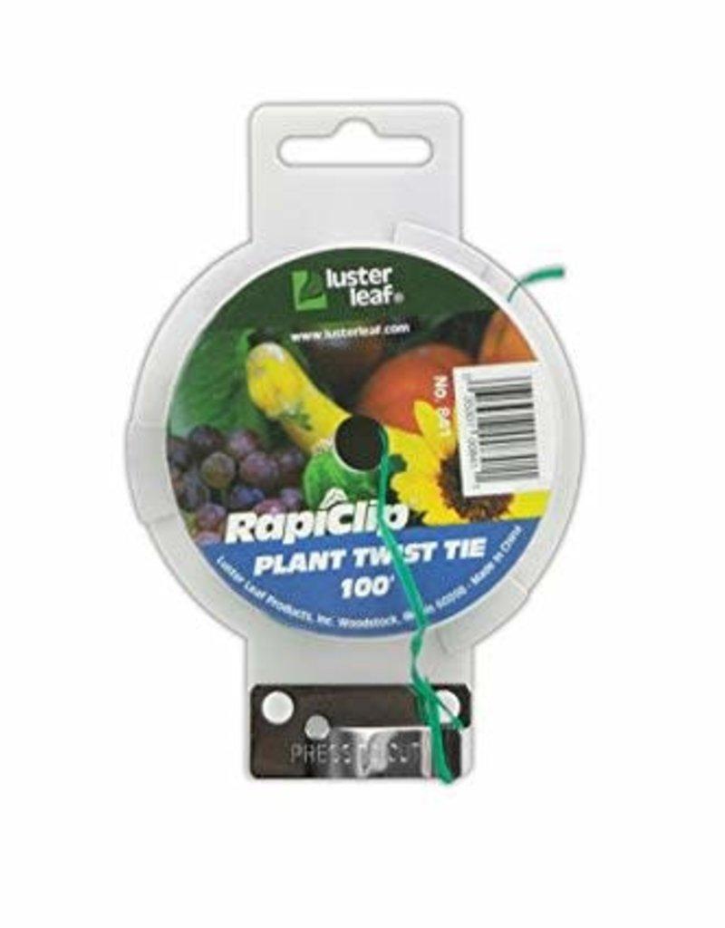 Luster Leaf Luster Leaf Rapiclip Plant Twist Tie w/ cutter 100'