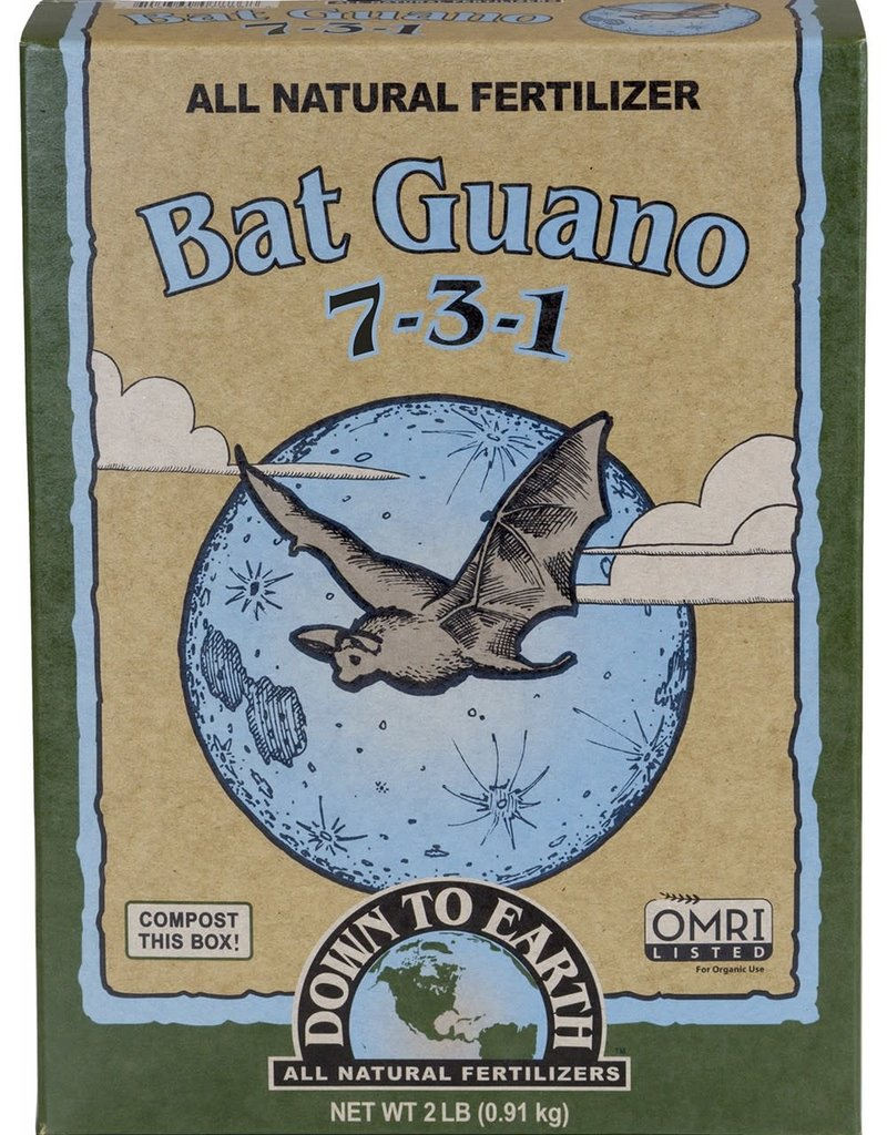 Down To Earth Down To Earth 7-3-1 Bat Guano 2 lb Box