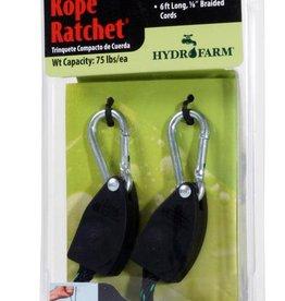 "Hydrofarm 1/8"" Rope Ratchet light Riser - 2 per pack"
