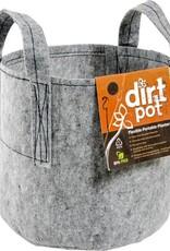 Hydrofarm Dirt Pot 7 Gal w/Handle Grey