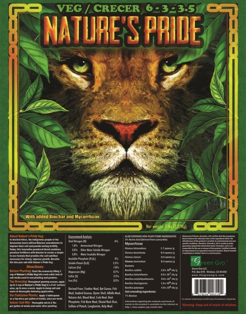 GreenGro GreenGro Nature's Pride Pridelands Veg Fertilizer 5lb