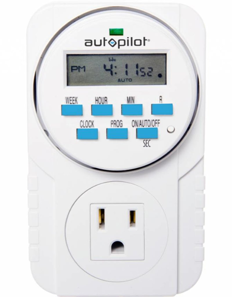 Autopilot 7-Day Grounded Digital Programmable Timer