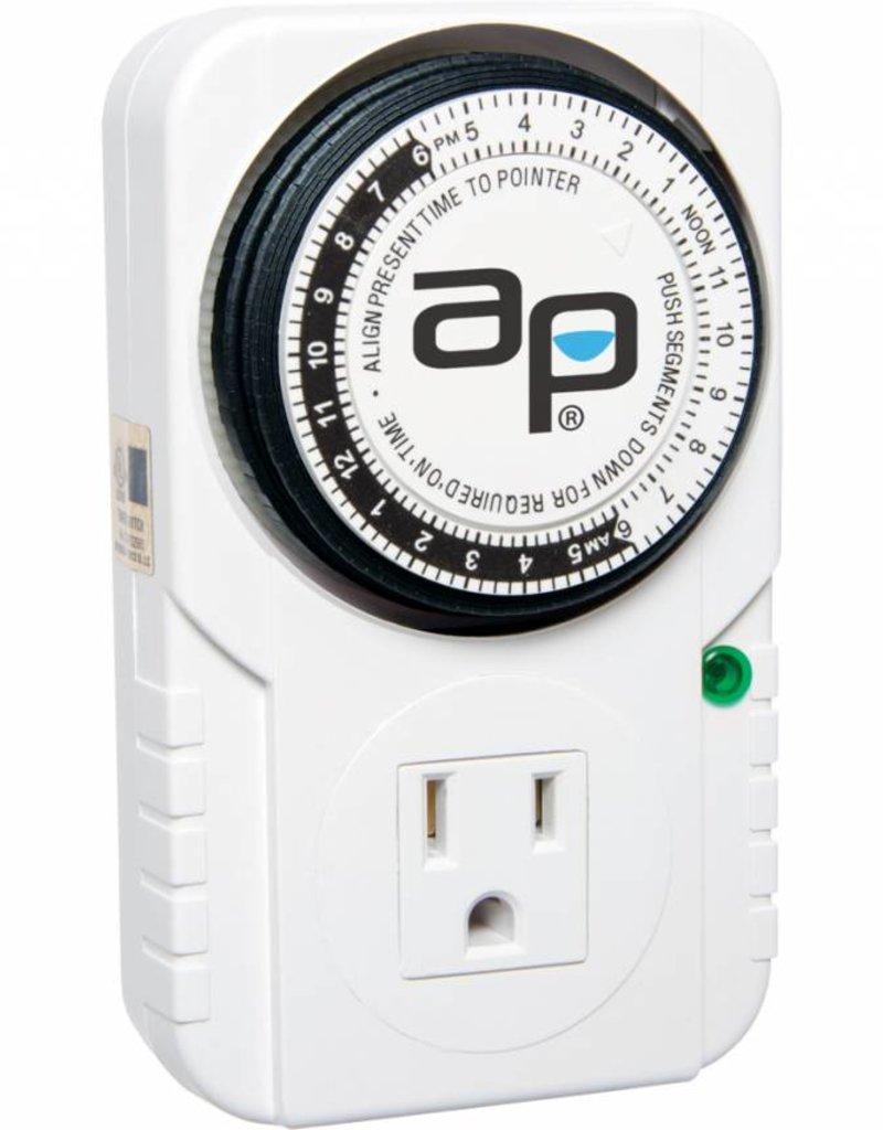 Autopilot Autopilot Analog 15A, 24 Hour, Grounded Timer, 1725w
