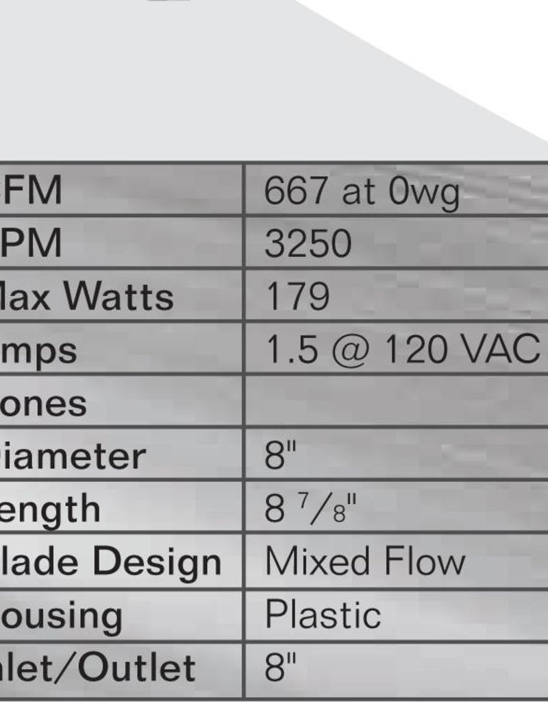 """Can Filter Group Can 8"""" Max-Fan, 675 CFM"""