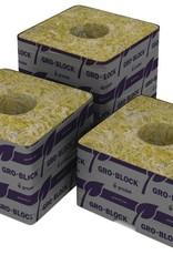 """Grodan Grodan Rockwool Delta 4  Block, 3""""x3""""x2.5"""" with hole 8 pack"""