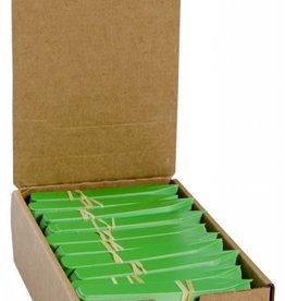 """Hydrofarm Plant Stake Labels Green 4"""" x 5/8"""" 100 bundle"""