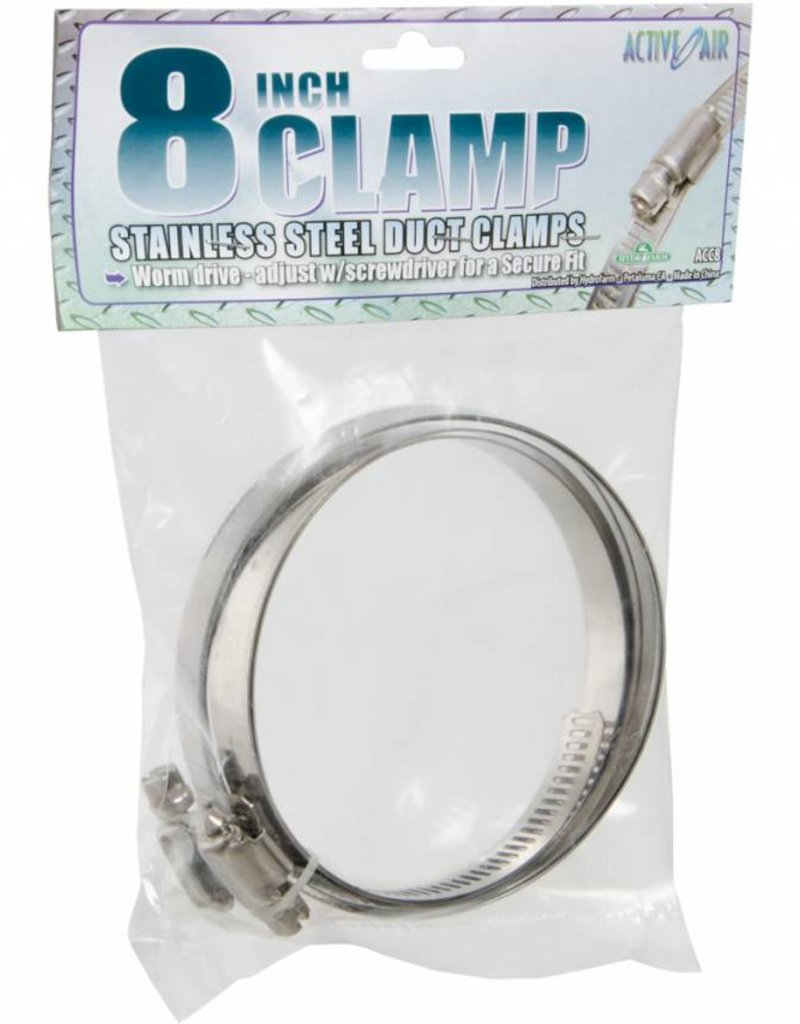 """Active Air Stainless Steel Duct Clamps - 8"""""""