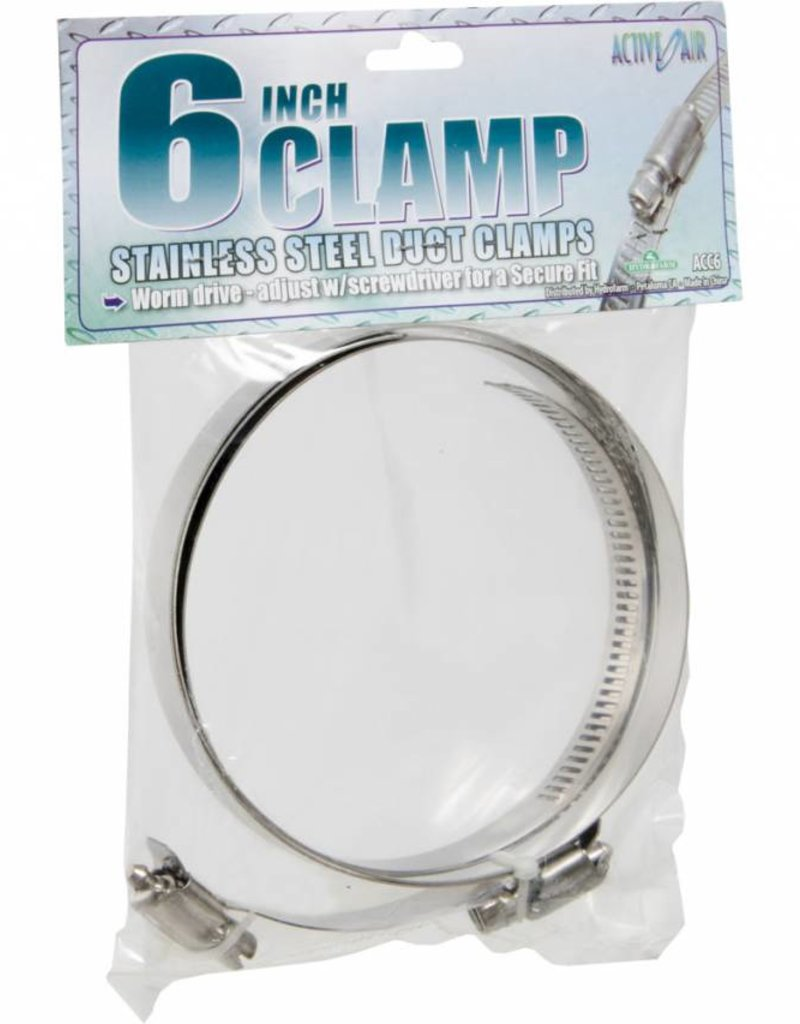 """Active Air Stainless Steel Duct Clamps - 6"""""""