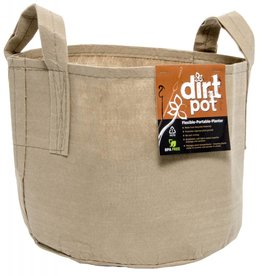 Hydrofarm Dirt Pot Tan 7 Gal w/Handle