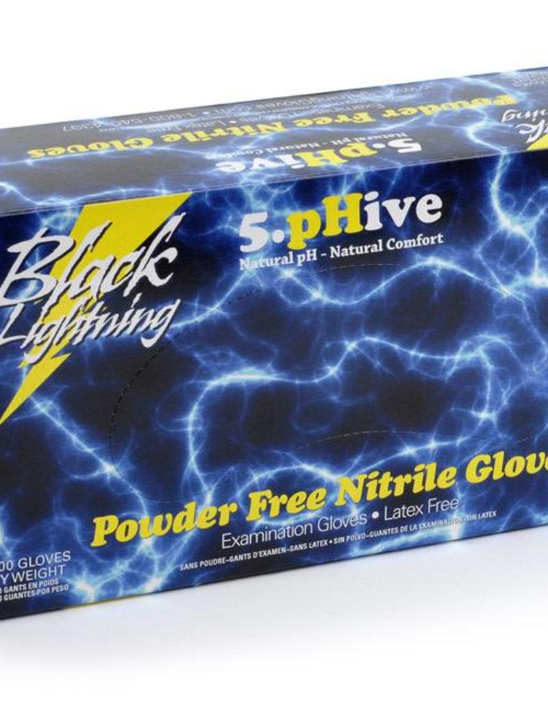 Atlantic Safety Products Black Lightning Gloves, Extra Large, pack of 100