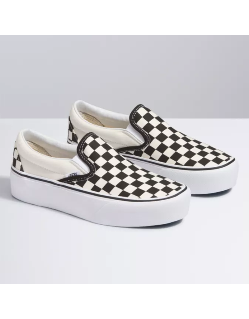 black white vans checkered
