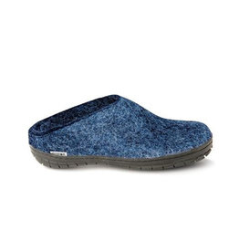 Glerups Glerups Open Heel Rubber Sole Black | Denim