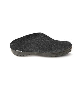 Glerups Glerups Open Heel Rubber Sole Black | Charcoal