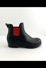 Carolina Rainboots | Black/Red